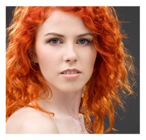 Beautiful Woman Wild Red Hair