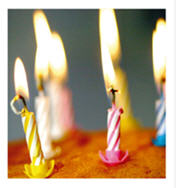 birthday candles courtesy CardsUnlimited dot com