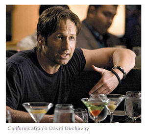 Californication's quintessential lovable Bad Body played by David Duchovny, courtesy Time Out NY.