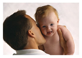 Fathers and babies: little kids, little worries - even if sometimes they seem big.