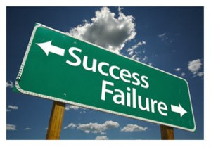 Sign with success and failure