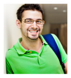 College Student Smiling