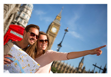 Couple Traveling in London