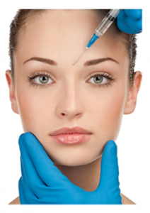 Young woman undergoing cosmetic procedures