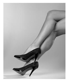 Sexy legs Black heels bw