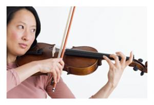 Musician on violin
