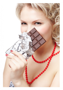 Sexy Woman with Chocolate