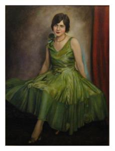 Portrait 1926 Green Dress
