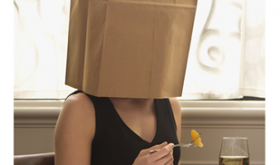 Woman with Bag Over Her Head