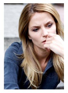 Woman with Worried Expression