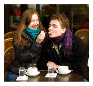 Young Couple in Paris Café
