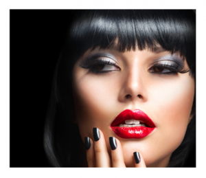 Vampy Woman in Red Lips