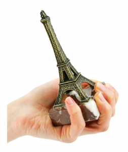 Woman with Paris in the Palm of her Hand