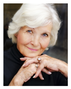 Beautiful Mature Woman White Hair
