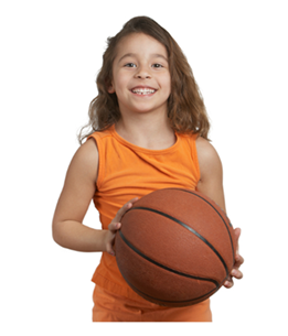 Girl Holding Basketball