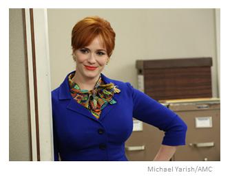 Mad Men Season 6 Episode 7 Joan Smiling