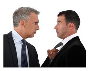 Two Men in Threatening Stance