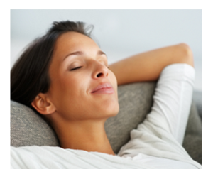Woman Daydreaming Eyes Closed
