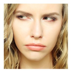 Blonde Woman with Skeptical Expression