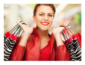Shopping Crazed Woman