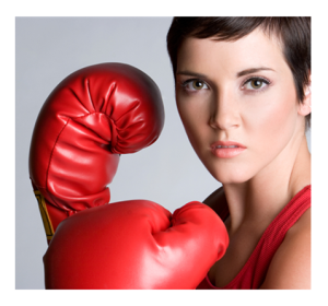 Woman Ready for a Fight