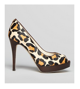 Michael Kors Peep Toe Pump York High Heel Leopard 2