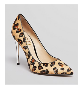 SHOES Joan and David Pointed Toe Pumps in Cheetah