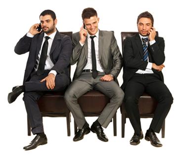 Three Business Guys Sitting