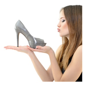 Woman Who Loves Her Shoes