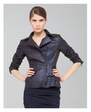 Akris Shimmer Suede Moto Jacket at Neiman Marcus