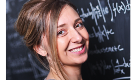 Woman With Math Background