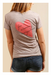 Eco Friendly Tee Shirt Respect for Women Everywhere by Moral Minority