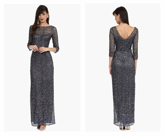 Kay Unger Embellished Mesh Gown at Nordstrom