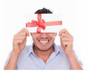 Man Holding Gift Envelope