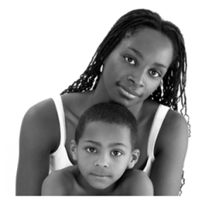 Mother and Son bw