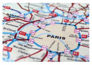 Paris Map Périphérique et Banlieue