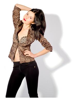 Woman in Leopard Jacket