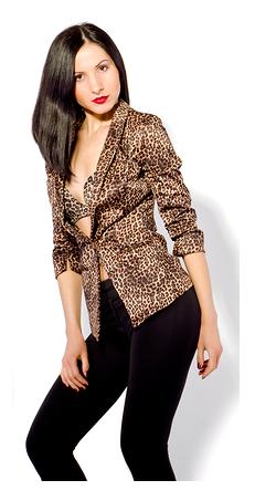 Woman in Leopard Jacket 2