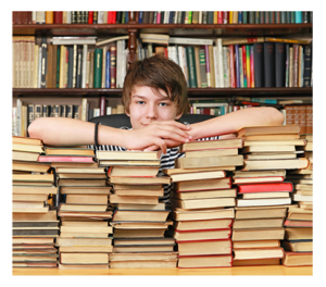 A Teen Boy and His Books