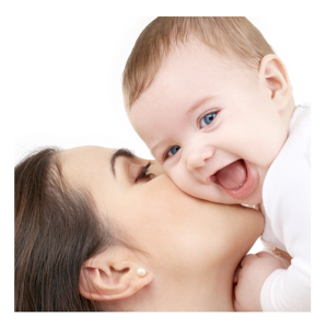 Laughiing Baby with Mother
