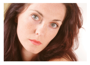 Serious Woman Gray Eyes