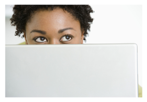 African American Woman on computer