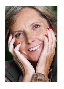 Mature Woman Smiling Warmly