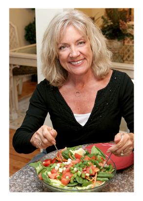 50-year-old-Woman-Enjoying-Healthy-Salad