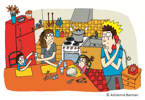 Novacarta Illustration Mom and Dad by Adrienne Barman
