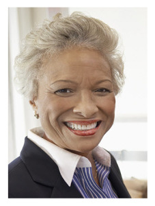 Smiling Middle Age African American Woman