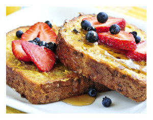 French Toast topped with Berries