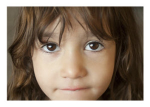 Little Girl with Big Brown Eyes