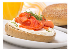 Bagel and Cream Cheese with Salmon