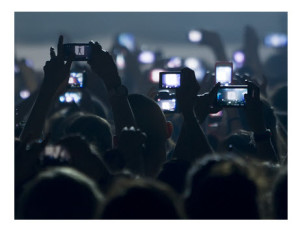 People at Concert Recording With Smartphones